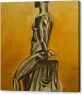 Sitting Alone Canvas Print
