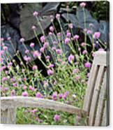 Sitting Amongst A Wildflower Garden Canvas Print