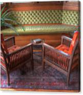 Sitting Area At Frank Lloyd Wright Home And Studio Canvas Print