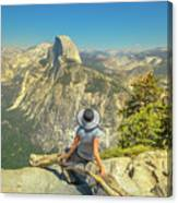 sitting at Glacier Point Canvas Print