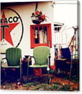 Sitting At The Texaco Canvas Print