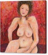 Sitting Nude Canvas Print