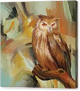 Sitting Owl Canvas Print