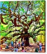 Sitting Under The Live Oaks Canvas Print