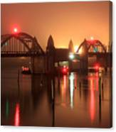 Siuslaw River Bridge At Night Canvas Print