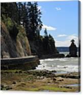 Siwash Rock Stanley Park Vancouver Canvas Print