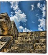 Six And A Half Steps From The Top Canvas Print