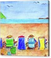 Six Beach Amigos Canvas Print