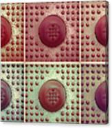 Six Panel Dot And Cube Landscape Canvas Print