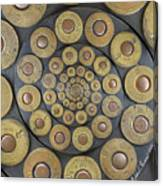 Six Shooter Cylinder Loaded Droste 1 Canvas Print