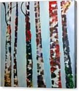 Six Tall Trees Canvas Print