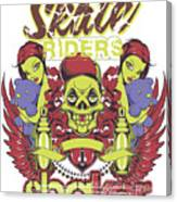 Skate Riders Canvas Print