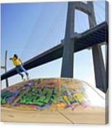 Skate Under Bridge Canvas Print