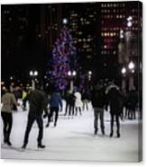 Skating By The Tree Canvas Print