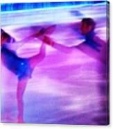 Skating Couple Abstract 2 Canvas Print