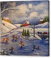 Winter Fun  Part 2  Canvas Print