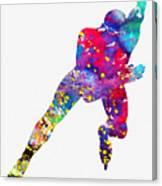 Skating Man-colorful Canvas Print