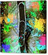 Skating Pop Art Canvas Print