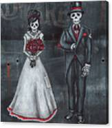 Skeleton Bride And Groom Aka Amor Sencillo Canvas Print
