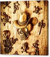 Skeleton Pendant Party Canvas Print