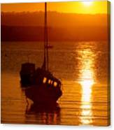 Skerries Harbour October Sunset  Canvas Print