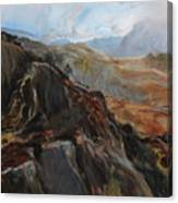 Sketch In Snowdonia Canvas Print