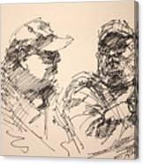 Sketch Men At Tims Canvas Print