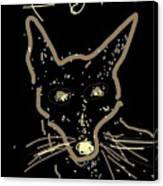 Sketch Of Fox By Kathy Barney Canvas Print