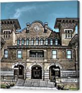 Sketch Of The Tt Wentworth Museum Canvas Print