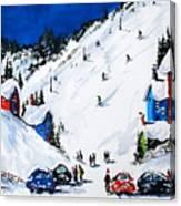 Ski day at Osler Canvas Print