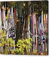 Ski Fence Canvas Print