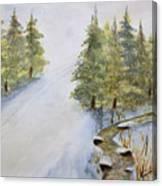 Ski Mountain Canvas Print