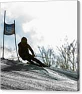 Ski Racer Backlit Canvas Print
