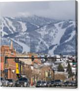 Ski Resort And Downtown Steamboat Canvas Print