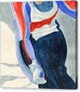 Skier Canvas Print
