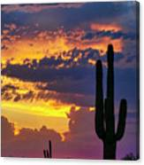 Skies Aglow In Arizona  Canvas Print