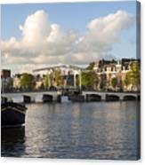 Skinny Bridge In Amsterdam Canvas Print