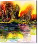 Skipping Stones Canvas Print