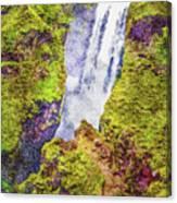 Skogafoss Waterfall #10 Canvas Print