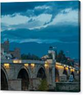 Skopje Stone Bridge Canvas Print