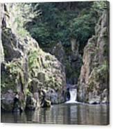 Skryje Waterfall And Pond Canvas Print