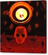 Skull And Candle Canvas Print