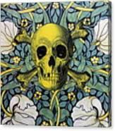 Skull And Cross4 Canvas Print