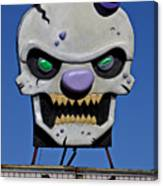 Skull Fun House Sign Canvas Print