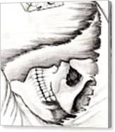Skull Gambler Canvas Print