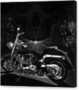 Skull Harley Canvas Print
