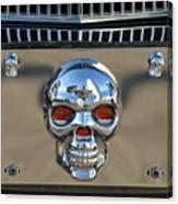 Skull License Plate Canvas Print