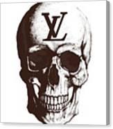 Skull Lv Braun Canvas Print