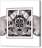 Skull Mandala Series Nr 1 Canvas Print
