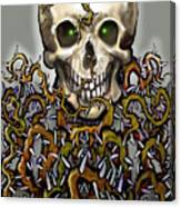 Skull N Thorns Canvas Print